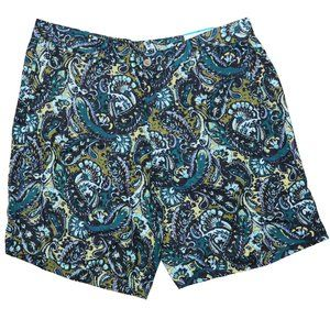 Men's Tasso Elba Linen Shorts Paisley-Print